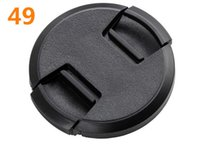 Wholesale Lens Cap 49 - Wholesale-High-quality 49mm center pinch Snap-on cap cover for all 49 camera Lens free shipping