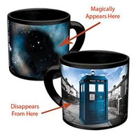 Wholesale Magical Coffee Cup - Doctor Dr.Who Heat Reveal Mug with Retail Package Color Change Coffee Cup Sensitive Ceramic Chameleon Magical Mug Novelty Gifts