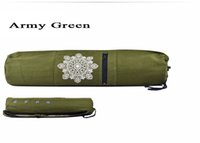 Wholesale yoga mat carry bag for sale - Group buy Fitness Supplies cm Canvas Practical Yoga Pilates Mat Carry Strap Drawstring Bag Sport Exercise Gym Fitness Backpack for mm Yoga Mat