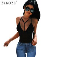 Bodycon Westeober Frauen Kaufen -ZKOZE Womens Spaghetti Strap Sommer Plus Size Weste Top Casual Bodycon Ärmellos Tank Tops Hollow Out V Neck Sexy Camis q170691