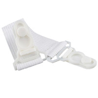 Wholesale Elastic Beds - 12pcs Fitted Bed Sheet Mattress Grippers Suspenders Elastic Garter Fastener Holder Clips Straps Rubber Button Hook White