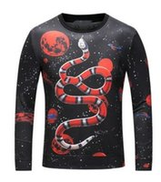 Wholesale Woman Winter Jackets Hoody - Good Quality Space Planets 3D Snake Sweatshirts Men Women Hoodies Stars Autumn Winter Jacket coat Hooded Hoody Tops