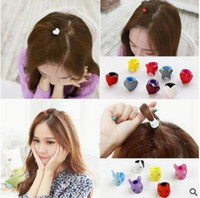 Wholesale Cute Kid Hair Claw Clips - Korea Newest Mini Clips for Baby Fashion Cute Candy Color Mini Small Hair Claw Girls Hair Clips Girls Kids Flower Hair Accessories 423