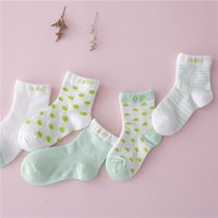 Wholesale Shorts Boy Candy - 5Pairs lot Spring Autumn cotton candy color baby socks newborn candy boys girls kid children socks baby unisex short floor scoks