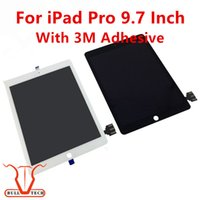 Wholesale Ipad Lcd Wholesale - For IPad Pro 9.7 Inch LCD Display Screen with Touch Panel Digitizer Assembly Replacement Screen With 3M Adhesive Glue