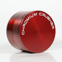 Wholesale Shipping Zinc Alloy - Zinc Alloy Herb Grinder CHROMIUM CRUSHER 4 Piece With Six Colors For Reference Free Shipping 5915C