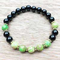 Wholesale Low Heals - SN1009 Black Onyx Calming Energy Bracelet Healing Bracelet Wrist Mala Yoga Beads Intention Bracelet Fashion Jewelry Low Price Wholesale