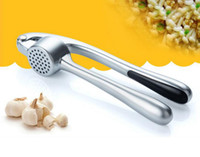 Wholesale Garlic Keepers - S6121 high-end stainless steel pressure garlic   zinc alloy pressure garlic   garlic kitchen tools global free shipping