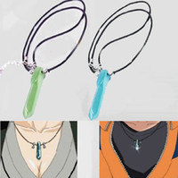 Wholesale Naruto Uzumaki Necklace - Wholesale-Hot Japanese Anime Naruto uzumaki naruto Jade Pendant Necklace 2 Colors 1PC Baby Gifts  Christmsa Gifts Free Shipping IA907 P
