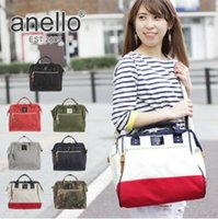 Wholesale Messenger Bag School Shoulder - 7 Colors apen Anello Large Unisex 2-Way Cross Body Shoulder Messenger Bag Tote Handbag Purse Campus School Bag CCA6637 10pcs