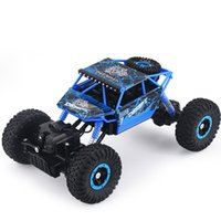 Wholesale Rc Cars Nitro - Wholesale- Free Shipping RC Car 4WD Rock Crawlers 4x4 Driving Car Double Motors Drive Bigfoot Car Remote Control Model Off-Road Vehicle Toy