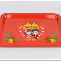 Wholesale Dishes Flatware - Dishes Red Square Creative Flatware Stainless Steel Chinese Features Flatware Restaurant Kitchenware Festival & Party Supplies Home Garden