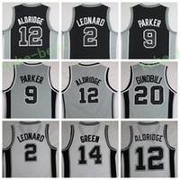 Wholesale Manu Black - Hot Sale 12 LaMarcus Aldridge Uniforms 20 Manu Ginobili 2 Kawhi Leonard Jersey Shirt 9 Tony Parker Fashion Team Color Black Gray White