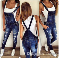 Wholesale High Waist Overalls - Wholesale- 2017 Spring New Fashion Women Pencil Stretch Casual Denim Skinny Jeans Pants High Waist Jeans