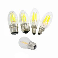 Wholesale E14 E27 Bulb 6w - Dimmable LED Candle light Bulbs Filament 2W 4W 6W E27 G45 C35 C35T Globe LED bulb Lamp E14 E12 B22 110V 220V