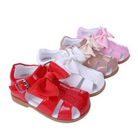 ingrosso scarpe da toddle-Pettigirl 2019 Summer Girl Princess Sandali Kids Skidproof Scarpe in pelle microfibra Hot UK Style Scarpa Toddle A-KSG005-01 No Shoe Box