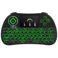 Wholesale wireless keyboards colors for sale - Latest colors backlight flying air Mouse i86 Lithium battery G Wireless Keyboard Remote Controlers touchpad for PC Notebook TV box
