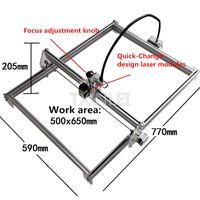 Wholesale Power Engraver - Big Work area 65*50cm DIY Laser Engraving Machine Cutting maching laser engraver support Laser Power adjust 2500mW 5500mW 7000mW