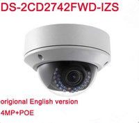 Wholesale Ip Camera Sd Card Cctv - English version Hik DS-2CD2742FWD-IZS 4MP IP Camera with WDR Vari-focal Motorized Lens Buit in SD Card Slot IR 30M Dome CCTV Camera