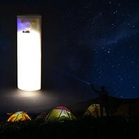 weiße zelte im freien großhandel-Solar Powered Led Camping Licht USB aufladen tragbare Licht 210lm weiß und warmweiß für Outdoor Wandern Camping Zelt Angeln Beleuchtung