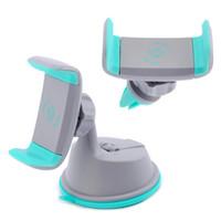 windschutzscheibe für handy großhandel-2 in 1 Mini-Windschutzscheiben-Autohalterung-Halter 360 drehender Belüftungsöffnung Sunction Ständer für beweglichen Handy iphone Samsung S8 GPS