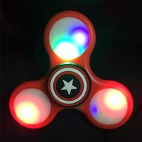 Wholesale Baby Big Wheel - 2017 Figet Spinner Antistress Toys Cartoon LED Anti stress carki handspinner figet spinners ADHD EDC wheel finger Baby toy gift