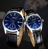 Wholesale Sbao Watches - 2017 Brand SBAO Watch Roman Classic Business Couple Watches Men Watch Blu-ray Couple Clock Leather Strap Relojes Hombre Relogio Masculino