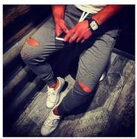 Wholesale Xs Harem Pants Mens - Wholesale- Mens BASIC JOGGER Pants Fleece Active Urban Harem Slim Fit Elastic Hip hop Dance