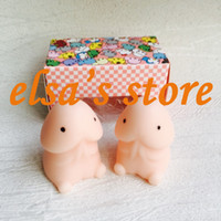 Wholesale Rabbit Penis - squishy wholesale squizee toy 20pcs antistress squishy mochi penis stretchy cute rabbit decompress squishy with box hand pinch Free Shipping