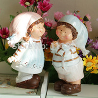 Wholesale Dolls Married - Wholesale- cheap Resin sleeping dolls decoration cake topper married couple wedding cake toppers valentine day gift decorations figurines