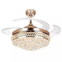 Venta al por mayor de retractable ceiling light comprar retractable ceiling light al por mayor 42 inch modern led crystal ventiladores de techo aloadofball Images