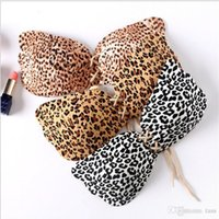 Wholesale Sexy Leopard Bra - Leopard Invisible Bra Silicone Sexy Women Strapless Push Up Bra Angel Wing Shape Self-Adhesive Bust Backless Bra 300pcs
