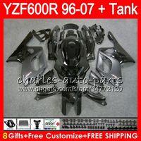 Wholesale 1996 yamaha fairing - 8Gifts For YAMAHA Thundercat YZF600R 02 03 04 05 06 07 55NO16 YZF 600R Stock black 96-07 YZF-600R 2002 2003 2004 2005 2006 2007 Fairing kit