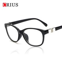 Wholesale Eyeglass Frames Bow - Wholesale- D 2017 new women's optical eye glasses frame for women bow Vintage color Square framed Brand design high quality eyeglasses