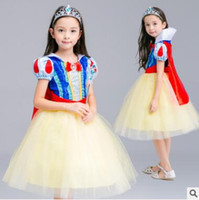 Wholesale Velvet Lining Clothes - Halloween Party Costume Children Cosplay Dress Snow White Girl Princess Dress Cloak Children Clothing Sets Kids Clothes Girls Dresses 833