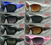 Wholesale Eyeglasses Khaki - 2017 G01 okay Sunglasses Eyeglasses Eyewear with box case,cloth mix colors Sunglasses TR90 Frame Polarized Lens UV400 Sports Sun Glasses