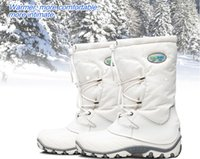 Wholesale Ladies Heeled Waterproof Leather Boots - BOBOSNBO Women snow boots female wool liner breathable waterproof slip-resistant outdoor hiking boots ladies winter skiing boots for-40C