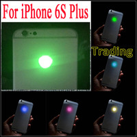 Para o iPhone 6S LED Plus LED DIY Luminescente LED Light Glowing Logo Mod Painel Kit Para iphone6S Plus Back Habitação Grátis