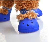 pet set chaussures fashion achat en gros de-E89 été chien chaussures de mode chaussures de chien chaussures pour animaux de compagnie bottes pour animaux de compagnie 4pcs / set livraison gratuite