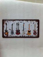 Wholesale art painting guitar resale online - Guitar vintage D embossed Metal Plaque Car Number Retro Licence Plate Tin Sign Bar Pub Home Cafe Wall Decor Retro Metal Art Poster