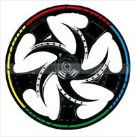 "Wholesale Wheel Reflective Tape Bike - 16 Strips 17"" Wheel Reflective Car Motorcycle Rim Sticker,car-styling,WHEEL Rim Stripe Decal sticker,Tape Bike Motorcycle Car"