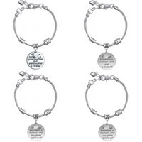 Wholesale Grandmother Bracelets - Wholesale-Family Gift Women Jewelry Love Between Grandmother Granddaughter Mother Daughter Charm Pendant Circle Bangle Bracelet