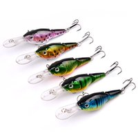Wholesale 5 colors Crank Bait Fishing Lure Hooks Sections Bass Baits cm g Hard Lures hook Fishing Tackle