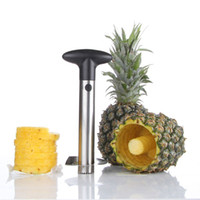 Wholesale Pineapple Peeler Cutter - Fashion Hot Novelty Home holds stainless steel Fruit Pineapple Corer Slicer Peeler Cutter Parer Knife DHL Fedex UPS Free Shipping 20170227