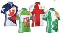 calções irlandeses venda por atacado-2018 Nacional da Escócia, país de Gales, Irlanda Inglaterra jersey respirável ciclismo jerseys manga curta verão pano seco rápido MTB Ropa ciclismo P7