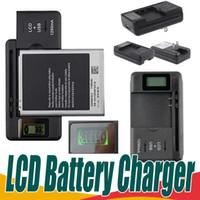 saída da bateria usb venda por atacado-Universal inteligente lcd indicador carregador de bateria para samsung s4 i9500 s3 i9300 nota 3 s5 com carga de saída usb eua au plugue