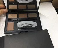 Wholesale Stencil Mixed - Makeup Sets Eyebrow Powder 4 Colors Eye brow Powder Palette Waterproof and Smudge Proof With Eyebrow Brushes Eyeliner Stencils DHL