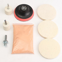 Wholesale Universal set Glass Polishing Kit Glass Scratch Removal Oz Cerium Oxide and Polishing Wheels pads Adapter