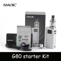 Wholesale Threaded Cores - Top quality SMOK G80 starter Kit with 2ml Spirals Tank Atomizer Top Refilling E Cigarette 18650 510 Thread Dual Core Coils