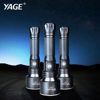 Wholesale YAGE XP E LM Aluminum Self Defense Waterproof CREE LED Flashlight Torch light for Rechargeable Battery YG D